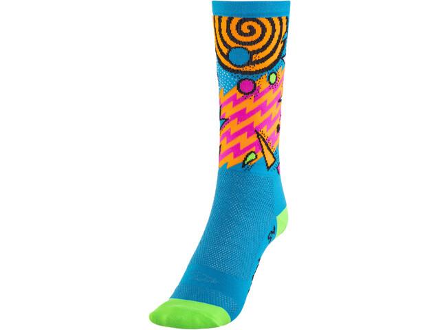 "DeFeet Aireator 6"" Socks, shazam/blue/green"